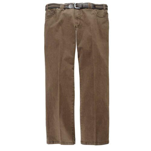 Luigi Morini braune Herren Stretch Jeans Mike Übergröße Normale Größen 60 68 NEU