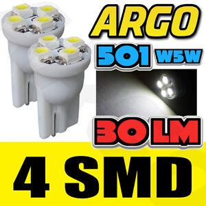 501-4-SMD-LED-Rueckleuchte-Gluehbirnen-Weiss-Xenon-T10-W5W-194-Keil-Lampe-Licht