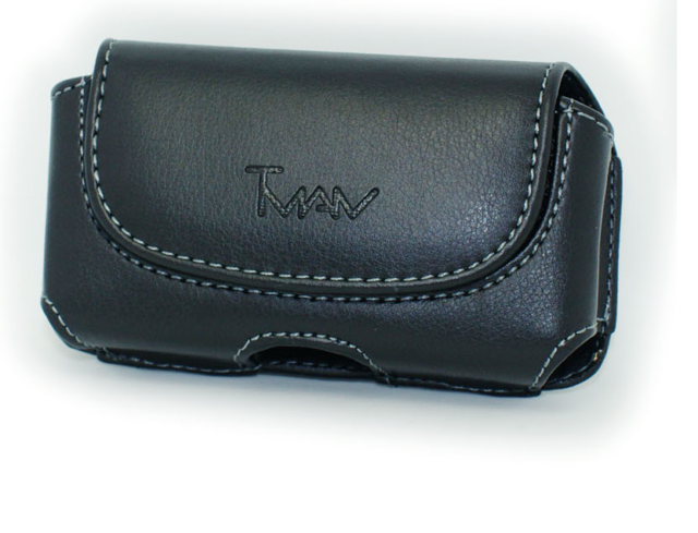 separation shoes a7052 5d7c2 Black Leather Case Pouch Holster W Belt Clip/loop for Doro Phone Easy 626  610