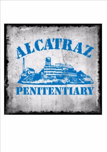 Alcatraz Vintage Stil Amerikanische Zeichen USA craps-zeichen Gefängnis-zeichen