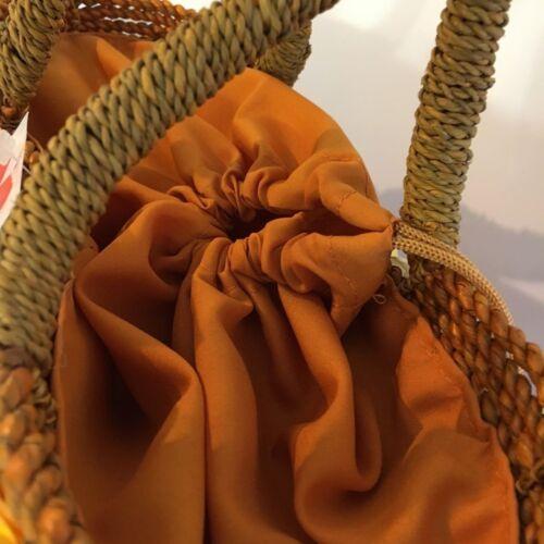 Joven con e seta bellissimo coulisse tessuto di Moda fiori con chiusura Un cesto dRFwxgzXq