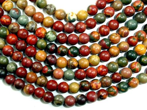 Natural Picasso Jasper Gemstone Round Beads 15.5/'/' Strand 4mm 6mm 8mm 10mm 12mm
