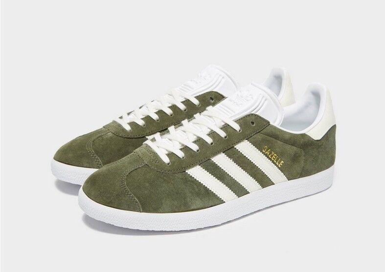 Adidas Gazelle Base verde Off blancoo Ftwr blancoo Reino Unido 7.5 BNIBWT