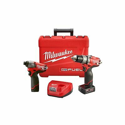 Milwaukee 2597-22 M12 Fuel Hammer Drill Driver Impact Driver 2-Tool Combo Kit