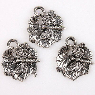 25x 145492 Fashion Dragonfly&Leaf Vintage Bronze Alloy Pendants Charms Findings