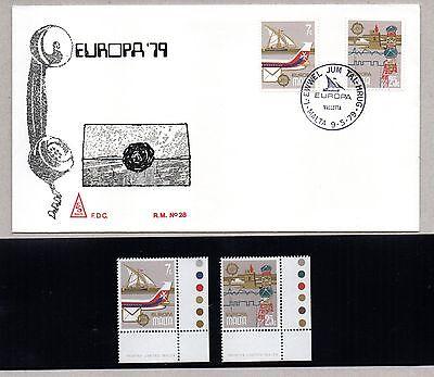 Fdc Erfinderisch > Malta 2 Stamps Mnh** 1979 Europa '79