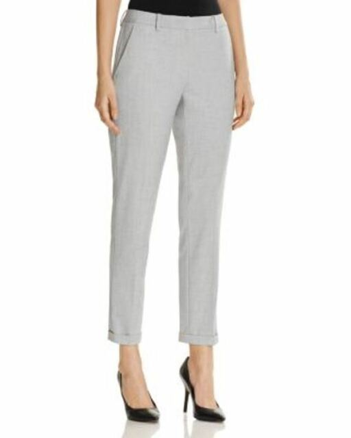 77666ea25ed T Tahari Women s Light Ashly Cuffed Pants Light Gray Size 10 for ...