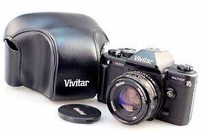 vivitar v3800n 35mm manual slr camera with 50mm f1 7 lens case ebay rh ebay com Vivitar 35Mm Camera Are Vivitar Cameras Any Good