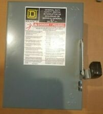 Square D Du321 30 Amp 240 Vac 3 Pole 3 Wire Disconnect Free Shipping