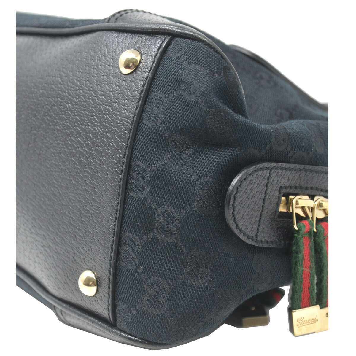 Gucci Boston Princy Black Guccissima Monogram Sm… - image 7