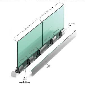 Ganzglasgelander Bodenprofil Glasgelander Balkongelander Glas