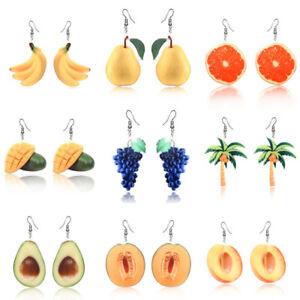 Fashion Acrylic Fruit Dangle Drop Earrings Hook Eardrop Party Women Jewelry