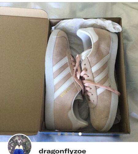 acheter pas cher 1c7d0 9e8b5 Boxed £ Taille en Baskets Épuisé Blanc Gazelle Adidas Rose ...