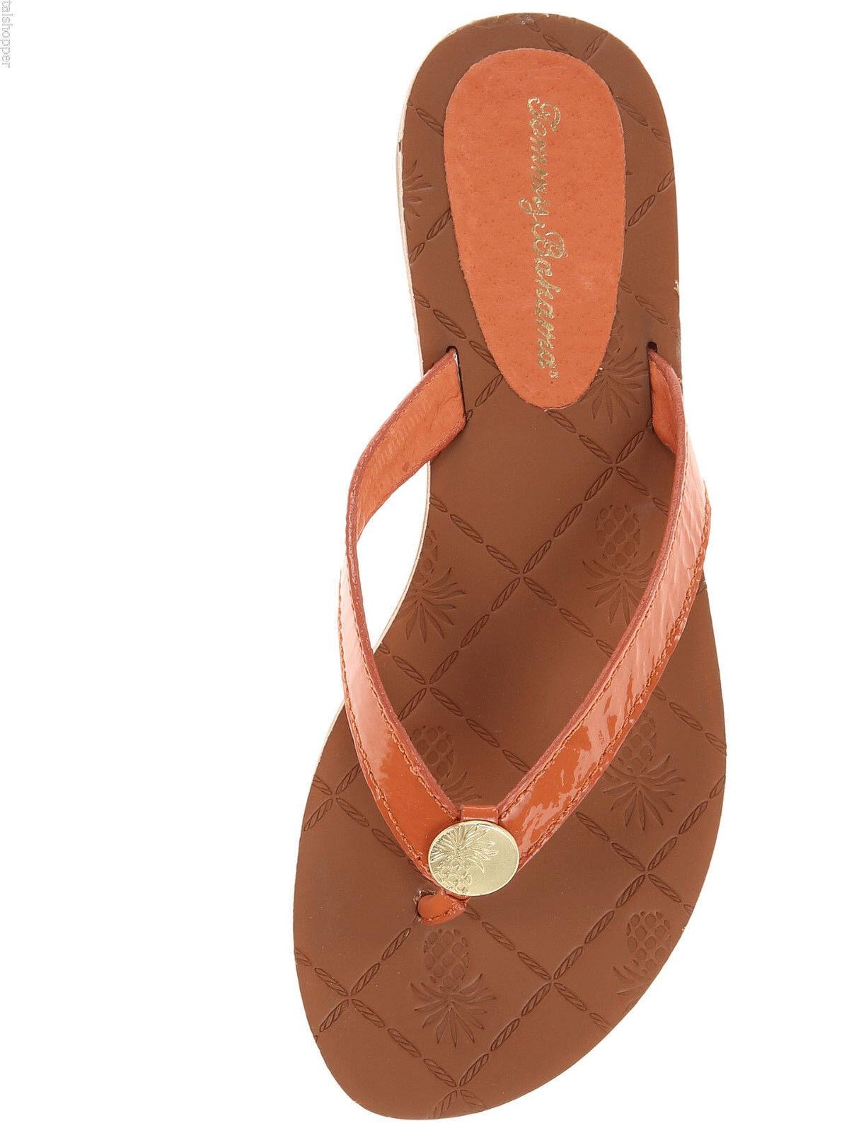 Tommy Bahama Havana Patent Leder Beach Thong Flip Flops NEW Sandales Poppy 7 M NEW Flops 0bbeac