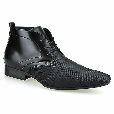 Mens New Smart Casual Leather Lace Up Chelsea Dealer Work Ankle Boots Shoes Size