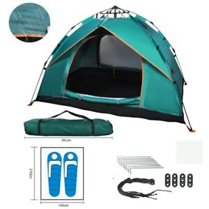 2 Man Person Pop-Up Tent Camping Hiking Beach Anti-UV Festival Outdoor Shelter