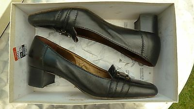 Tribunal de Cuero Negro Liana todos tamaño del zapato 38.5