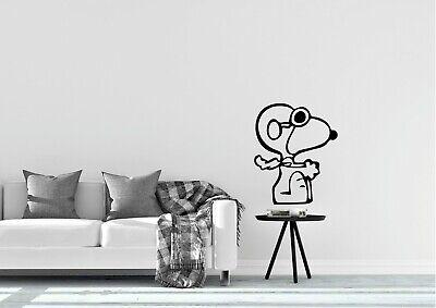 Snoopy pilot Standing Wall Art  Home Decor Flying Retro Decal Vinyl Sticker
