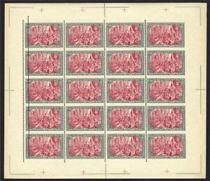 Allemagne 1900 Variété #4 Horiz Perf Lignes Manqué & 5 Mm Doublé Feuille Neuf Sans Charnière Faux-afficher Le Titre D'origine