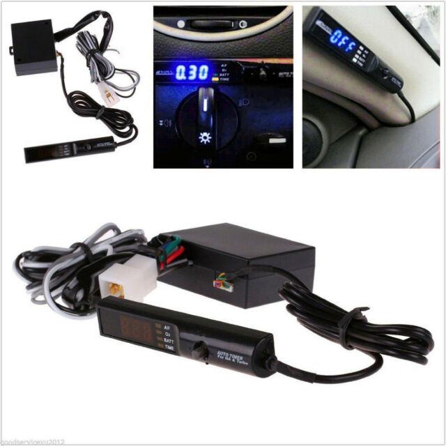 Universal APEX Auto Turbo Timer For NA & Turbo Black Pen Control Blue LED