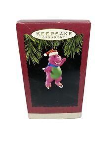 Hallmark-Keepsake-Barney-Christmas-Ornament-The-Purple-Dinosaur-Santa-Hat-1994