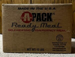 NEW A Pack Ready Meal SELF HEAT Military Meal Ready Eat Emergency CASE of 12