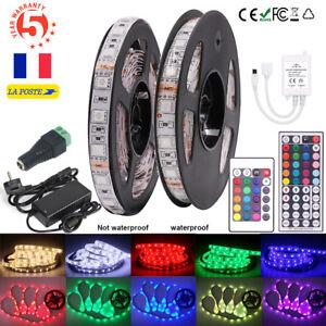 Bande-de-LED-Lumiere-Etanche-5M-10M-15M-5050-SMD-60leds-m-Flexible-Noel-Ruban