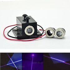 Dot/Line/Cross Focusable 405nm 50mw Violet/Blue Laser Diode Module w/ Heatsink