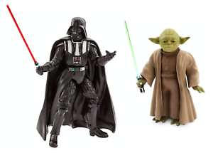Disney-Star-Wars-Yoda-amp-Darth-Vader-Talking-Action-figure-Toys-NEW-Great-Gift