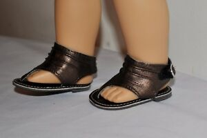 AMERICAN-STYLE-DOLL-SHOES-FOR-18-INCH-GIRL-DOLLS-DRESS-LOT-METALIC-SANDAL