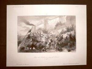 Presa-di-Lisbona-da-parte-dei-Crociati-Crociate-Incisione-del-1850-Rebel-Massard