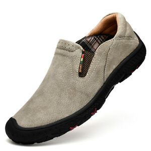 Men-039-s-Slip-On-Sports-Outdoor-Sneakers-Casual-Trail-Running-Hiking-Shoes-Gray