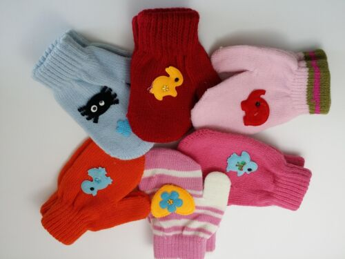 Ages 3 Years to 6 Years-random Design … Cute Soft Girls Mittens