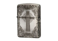ZIPPO Celtic Design SA Antique Silver / RARE model from JAPAN