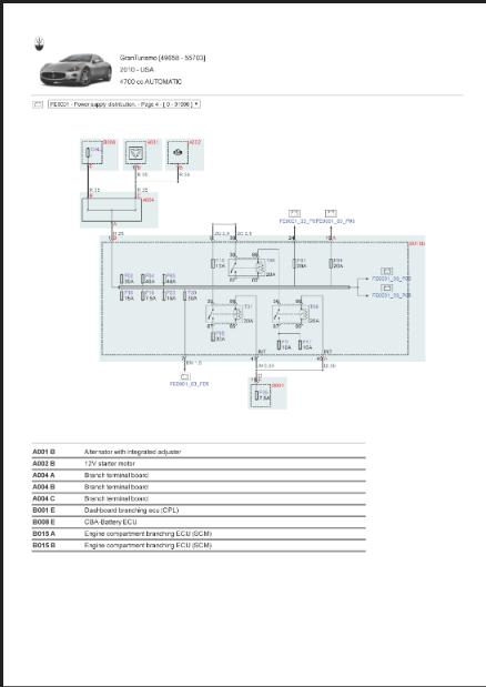 Factory Maserati Granturismo 4700 Automatic Wiring