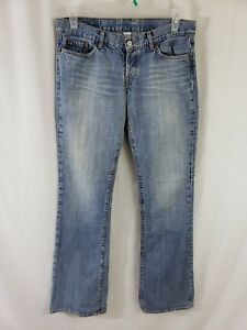 Lucky-Brand-Womens-Denim-Blue-Jeans-Size-30-x-36-Boot-Cut-Light-Wash-Mid-Rise