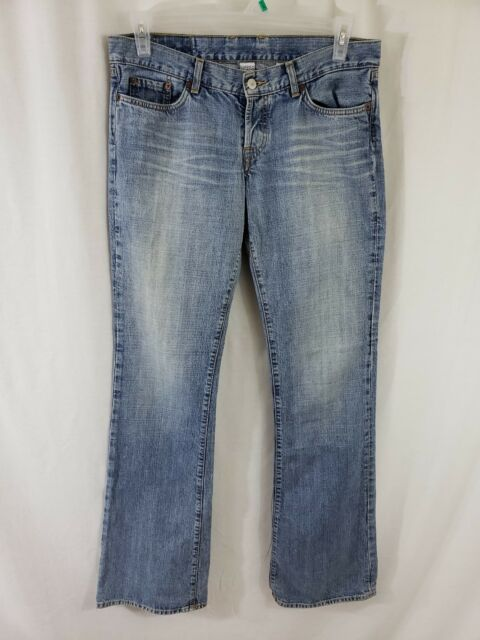Lucky Brand Womens Denim Blue Jeans Size 30 x 36 Boot Cut Light Wash Mid Rise