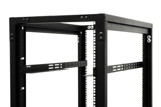 1U Rack Mount Adjustable Shelf Rails Gruber 34-102100