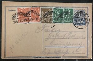 1923-Gandersheim-Germany-Postcard-Postal-Stationary-Inflation-Rate-Cover