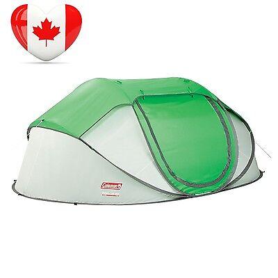 Coleman Company 4 Person Pop Up Tent,Green Grey