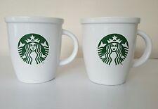2 X Bianco Starbucks Coffee tazze/bicchieri