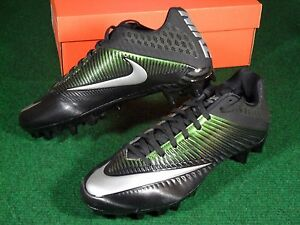 b65504767057 Details about New Mens Nike Vapor Speed 2 TD Low Football Cleats Black  Metallic Silver 833380