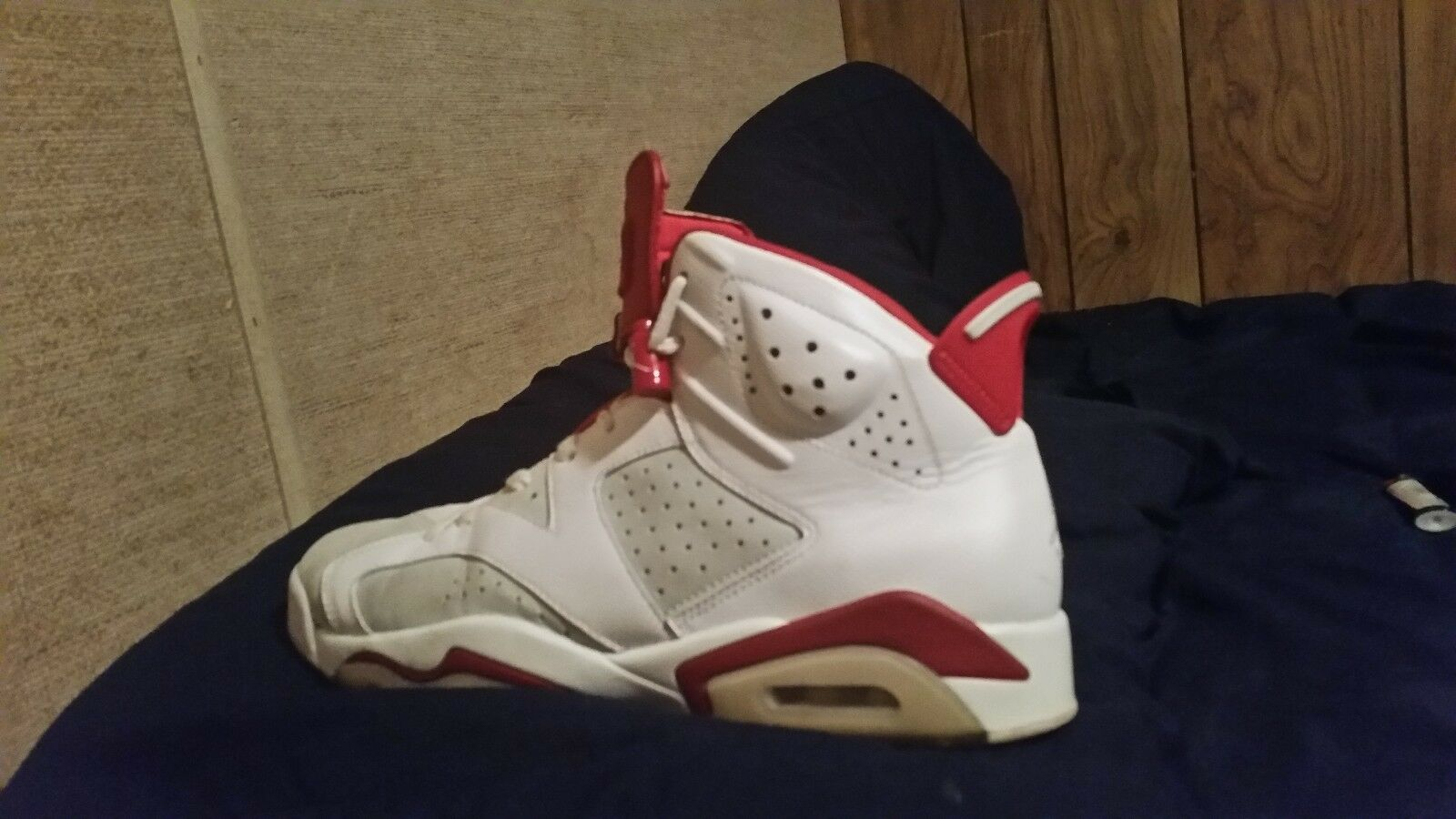 Mens Air Jordan Retro 6 VI Alternate Hare White Pure Platinum Gym Red 384664-113 New shoes for men and women, limited time discount