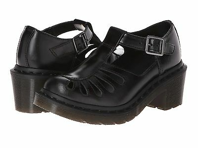 Dr. Martens Women`s Jocelyn T-Bar Sandal Black Buttero Leather US 9 EU 41 UK 7