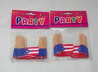 Puerto Rico Flag Cupcake Decor Adult Party Favor Supply Birthday 100topper Picke