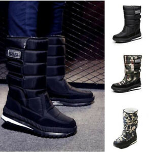 ff644b9e5 Details about Men's Fashion Platform Waterproof Warm Joggers Boots Snow  Boots Military Boots