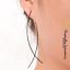 1-Pair-Trendy-Simple-Women-039-s-Silver-Long-Wire-Fish-Punk-Drop-Dangle-Earrings thumbnail 4