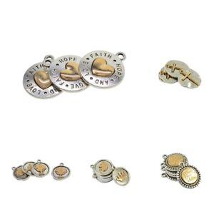 Jewellery-Craft-Design-10-Tibetan-Silver-Gold-Plated-Charms-DIY-Pendants