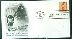 US-FDC-1612-AMERICANA-SERIES-LIGHT-LEADS-CANCL-AUG-23-1979-NOT-ADDR
