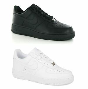 separation shoes b1b7b 70cb7 Image is loading Nike-Air-Force-1-Low-Leather-Mens-Trainers